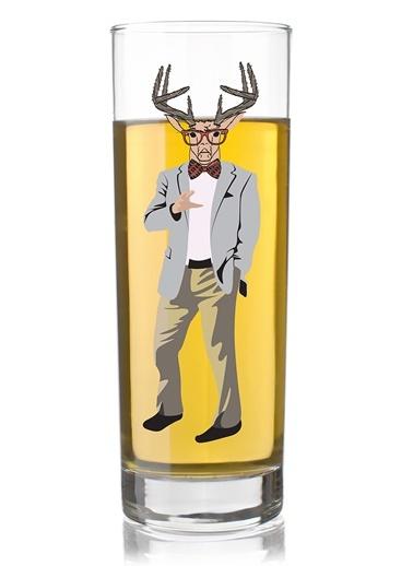 Fashıon Deer Man Tasarım Bardak-Rakle